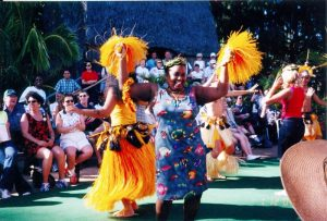 Woman Dancing at Luau