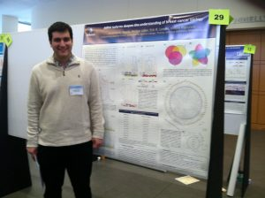 Aris Telonis in Front of His Breast Cancer Biology Presentation