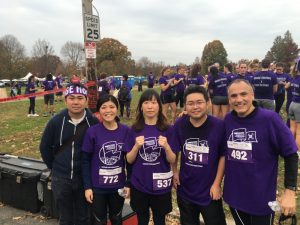 Computational Medicine team posing at 2015 PurpleStride Pancreatic Cancer event